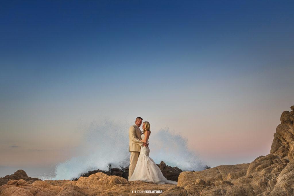 Infinity Weddings Couple at beach location in Los Cabos
